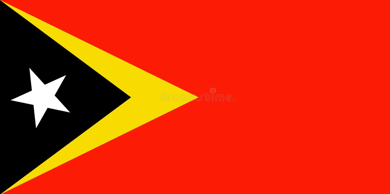 Timor Wschodni flaga ilustracji