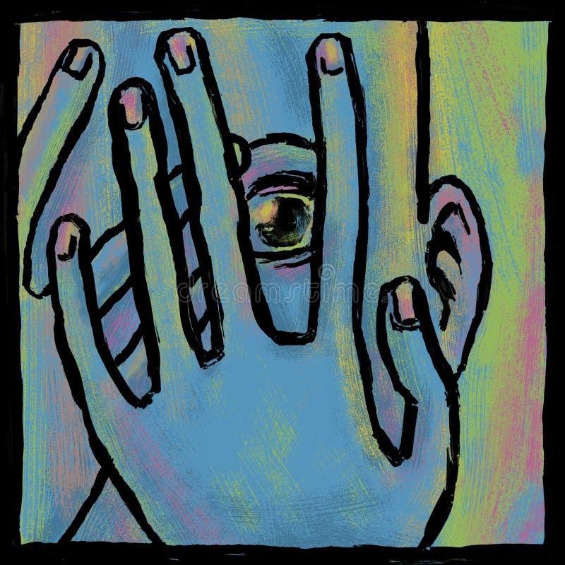 Timore blu illustrazione di stock