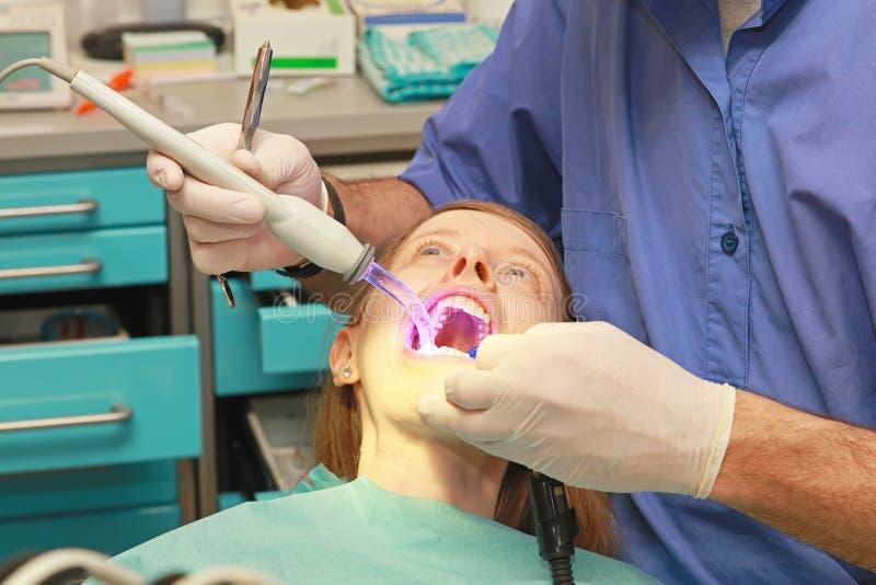 Timore del dentista immagine stock libera da diritti