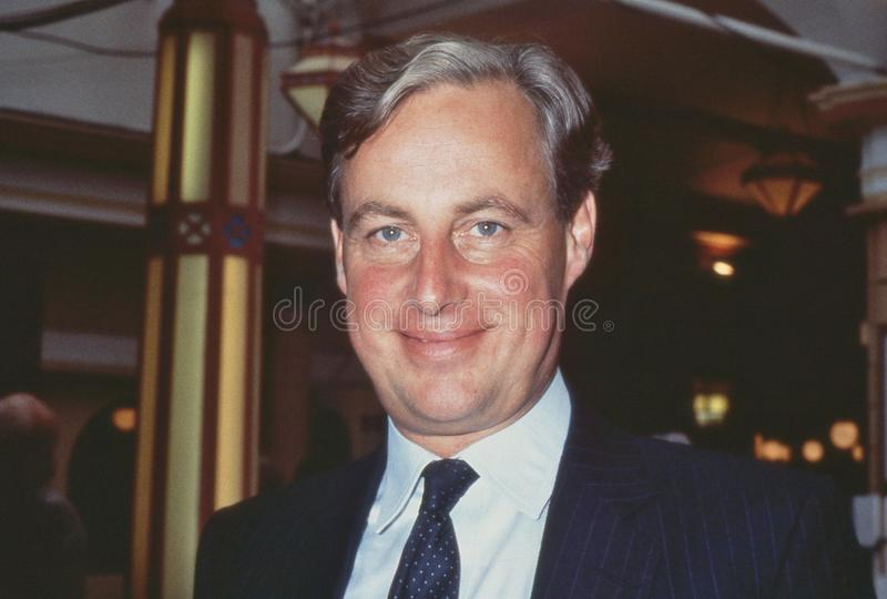 Timothy Yeo. Conservative party Member of Parliament for South Suffolk, attends the party conference at Blackpool in Lancashire, England on October 10, 1989 royalty free stock photography