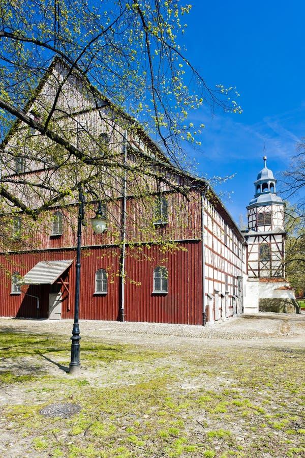 timrad kyrka av Jawor, Silesia, Polen fotografering för bildbyråer