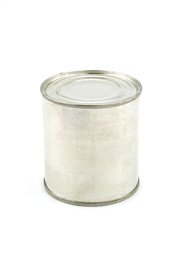 Tin. Isolated photo of a aluminum tin stock photography