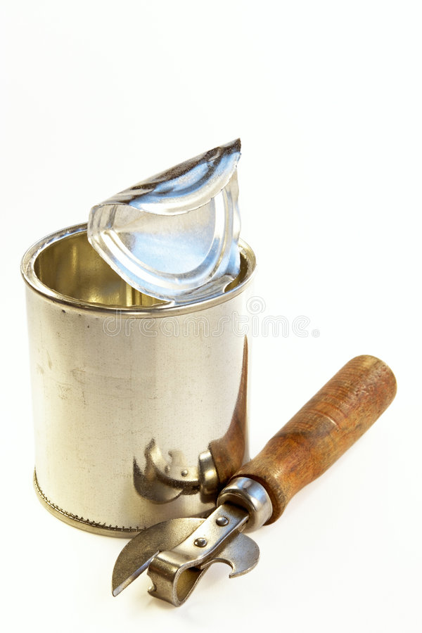 Download Tin banks and can opener stock photo. Image of bank, full - 740604