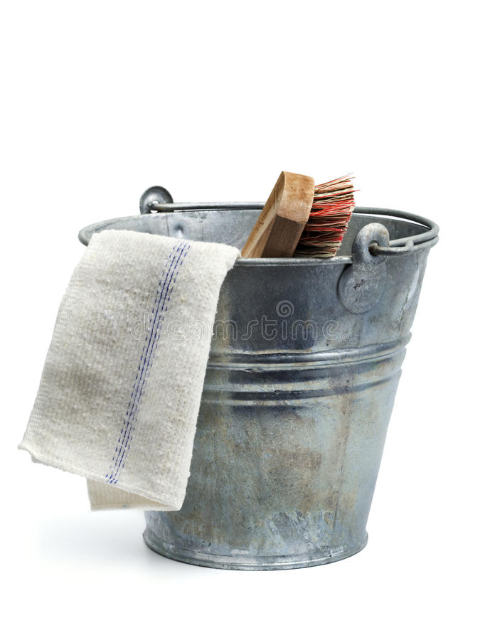 Download Tin Bucket, Rug And Scrubber Stock Photo   Image: 10267272