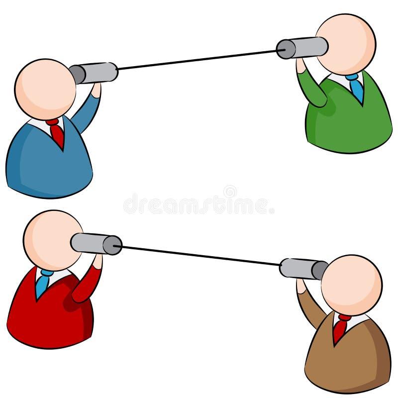 Tin Can Communication illustration de vecteur