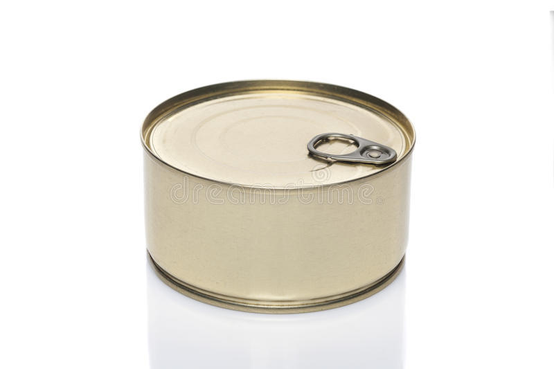 Tin can for conserve product stock image