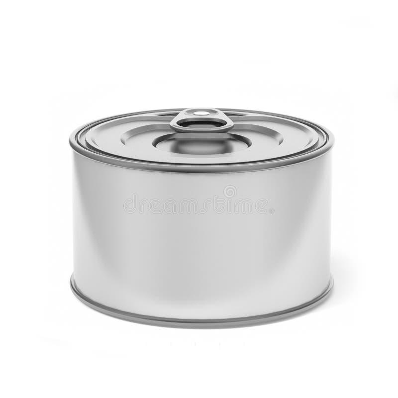 Tin Can Food Packaging blanco en blanco para el diseño ascendente de la mofa ilustración 3D libre illustration
