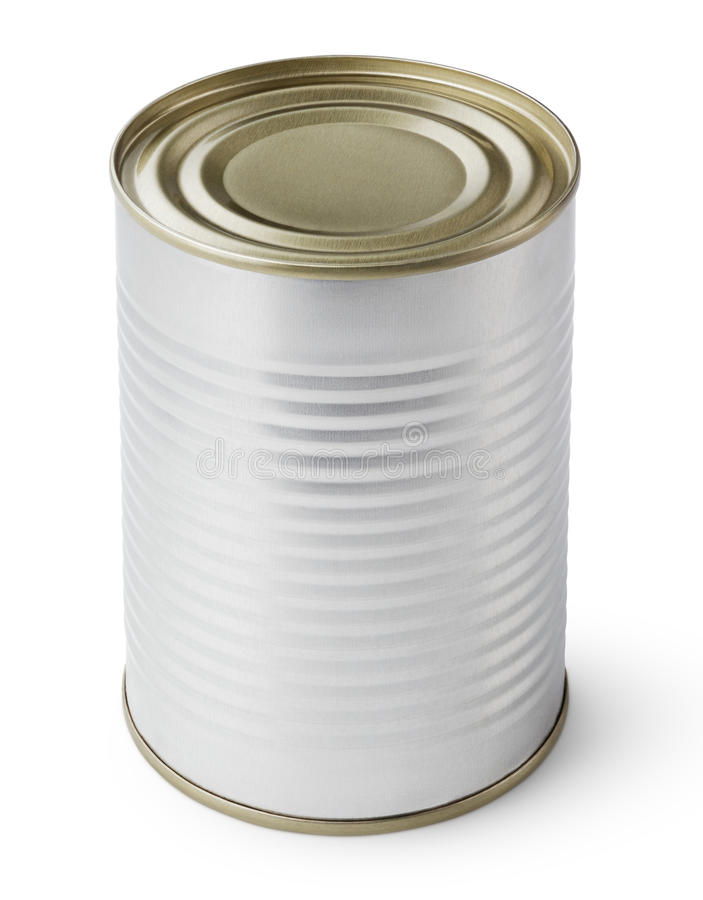 Tin Can isolated on white royalty free stock images