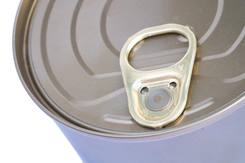 Tin Can Lid stock afbeelding