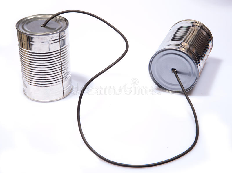 Download Tin Can Phone stock photo. Image of playful, information - 13421938