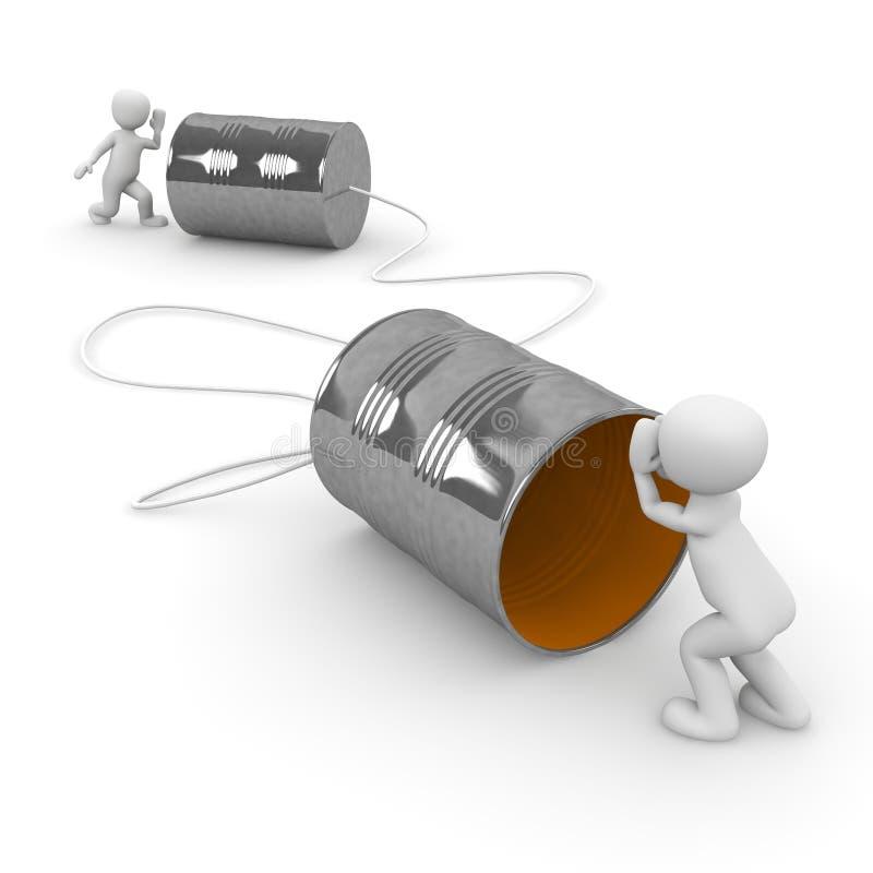 Tin Can Phone illustrazione vettoriale