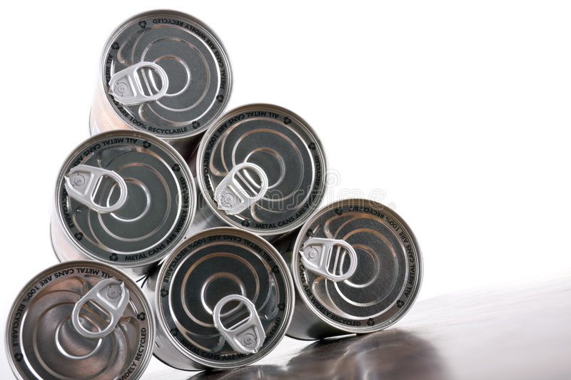 Download Tin can pyramid stock image. Image of packaging, canning - 7337281