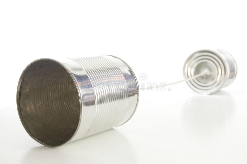 Download Tin or can telephone stock image. Image of talk, voice - 16478717