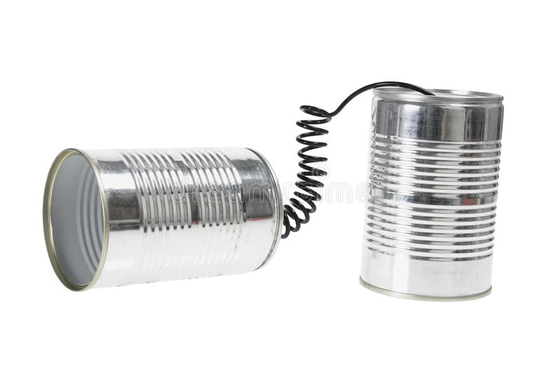 Download Tin Can Telephone stock image. Image of vintage, childhood - 20118787