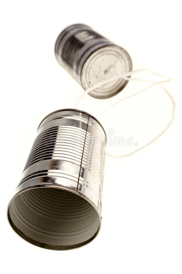 Download Tin can telephone stock image. Image of concept, over - 8581065