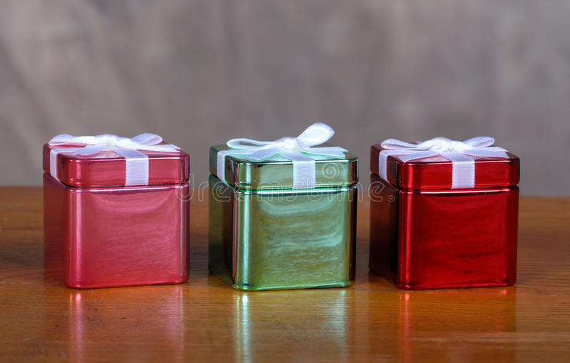 Download Tin Christmas boxes stock image. Image of gift, object - 19757699