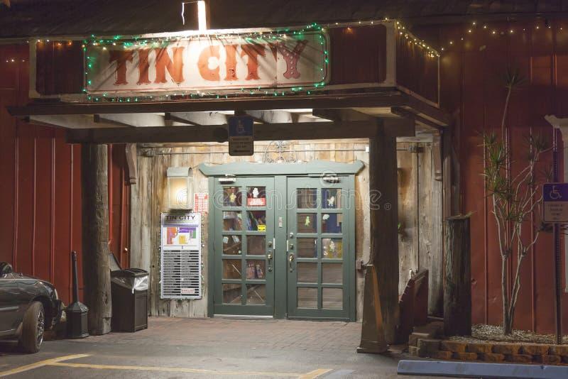Tin City in Neapel, Florida stockfotos