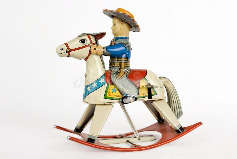 Tin Cowboy Toy stock photo