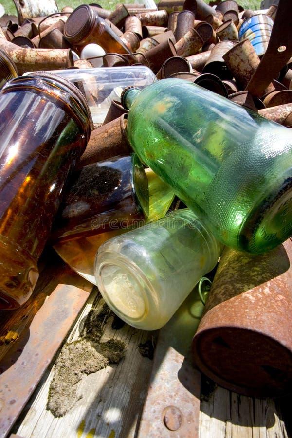 Tin en Glas royalty-vrije stock foto