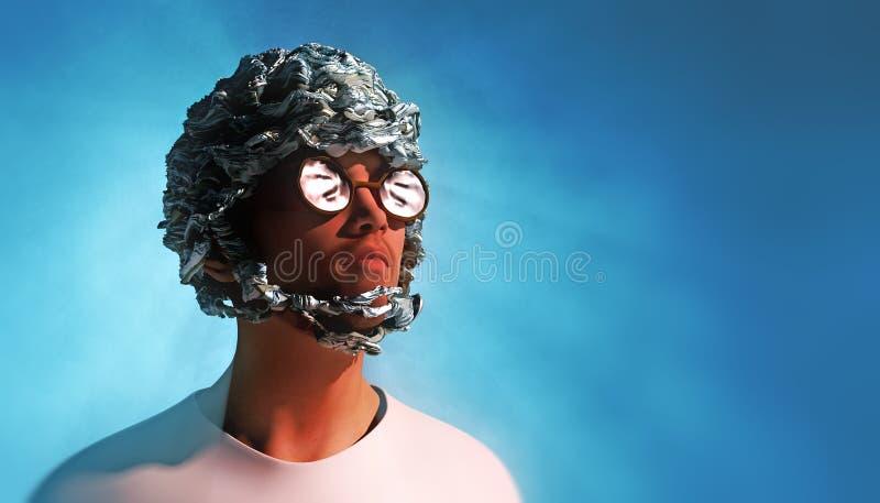 Tin Foil Helmet vector illustration