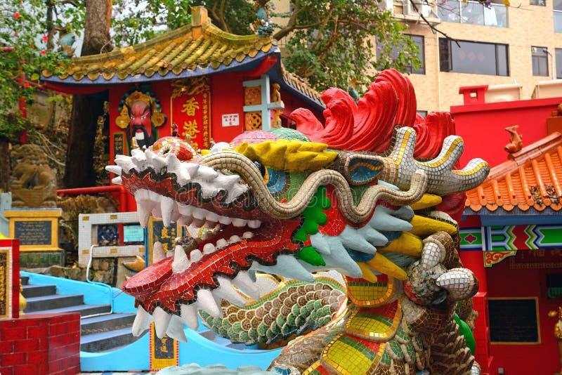 Tin Hau Temple, baia di rifiuto, Hong Kong fotografia stock libera da diritti