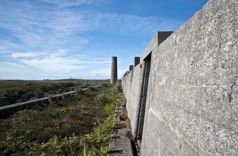 Tin Mine abandonado, Cornualha fotografia de stock royalty free
