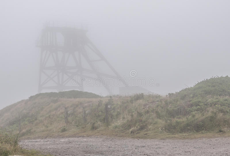 Tin Mine in the Fog royalty free stock image