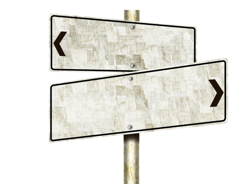 Tin Road Signs (Isolated) royalty free stock image