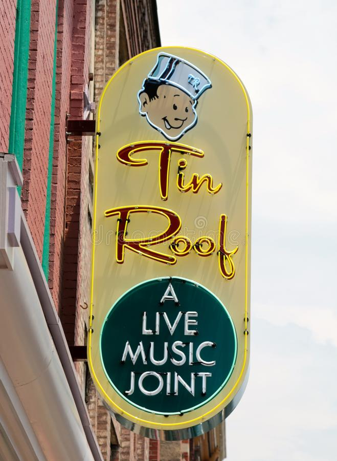 Tin Roof Live Music Joint, Nashville Tennessee stock afbeelding