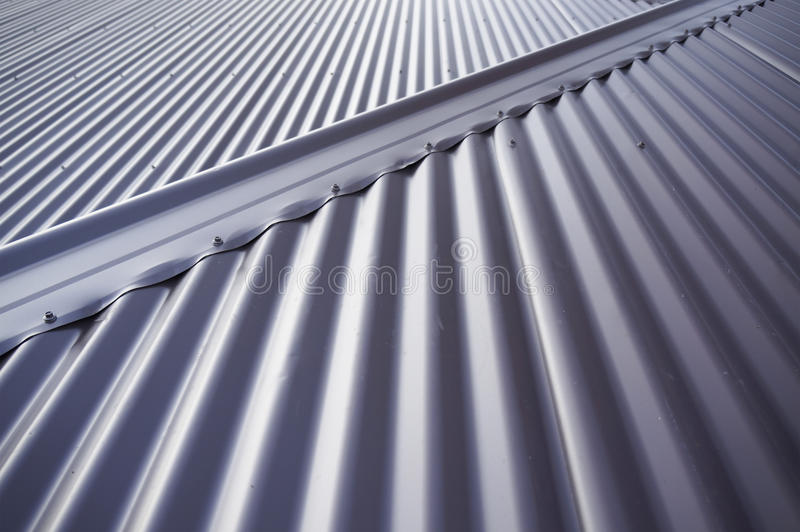 Tin roof stock photo