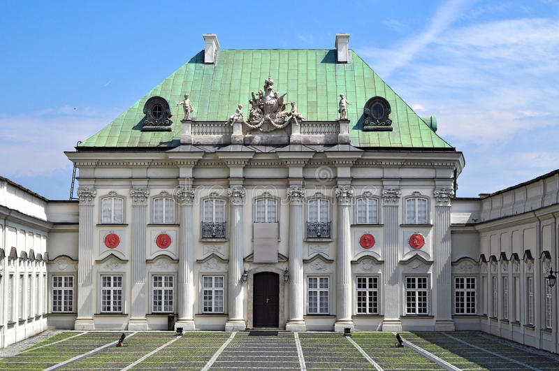 The Tin-Roofed Palace, Warsaw royalty free stock image