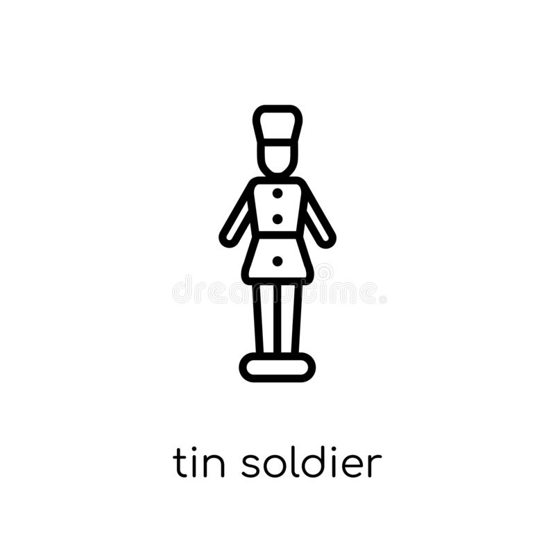Free Tin Soldier Icon. Trendy Modern Flat Linear Vector Tin Soldier I Royalty Free Stock Photos - 130939118