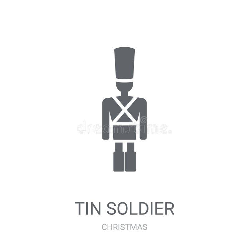 Tin Soldier-Ikone  vektor abbildung