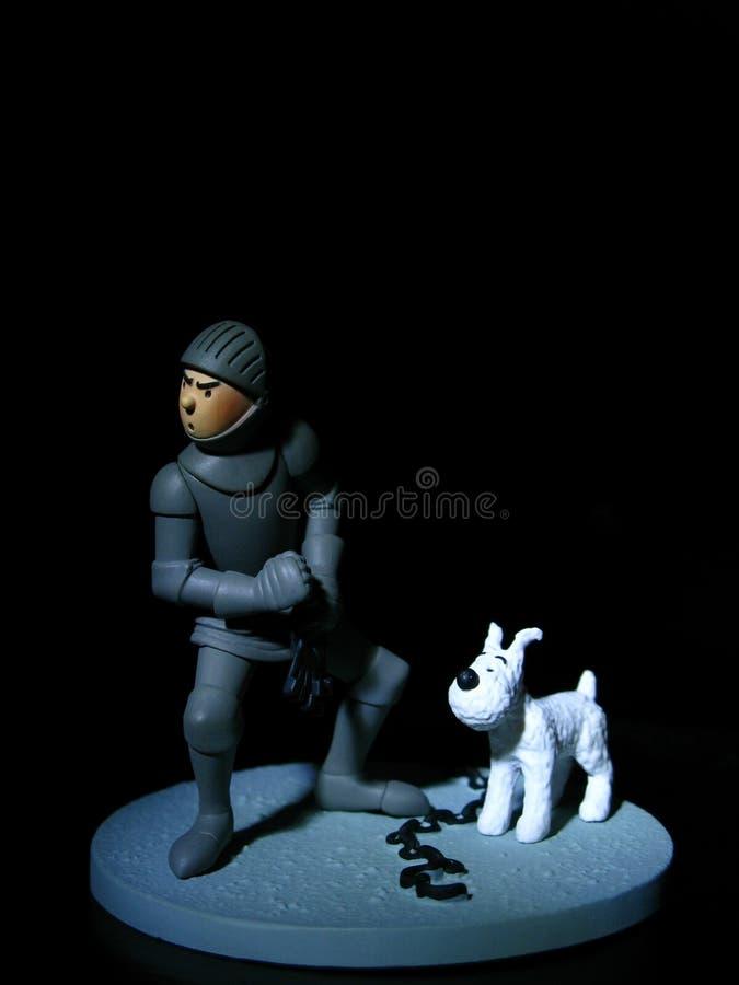 Tin Tin in Armour stock image