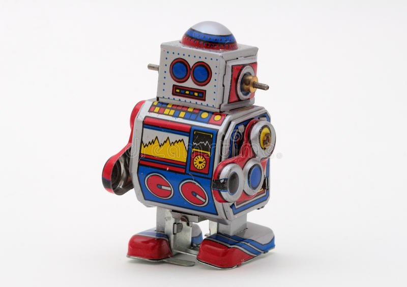 Tin-Toy Series - Small Windup Robot royalty free stock images