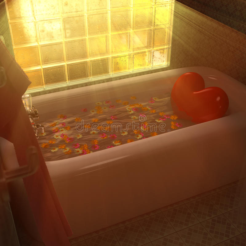 Tina de baño del corazón libre illustration