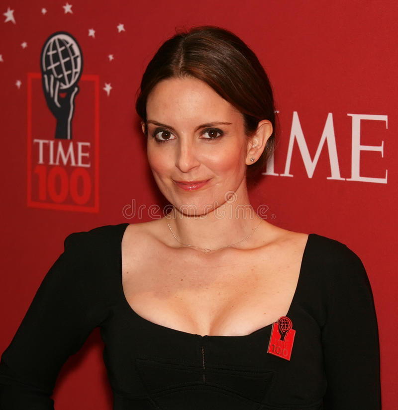 Tina Fey. TV personality Tina Fey poses on the red carpet at Time Magazine's 100 Most Influential People gala in New York City on May 8, 2007 royalty free stock image