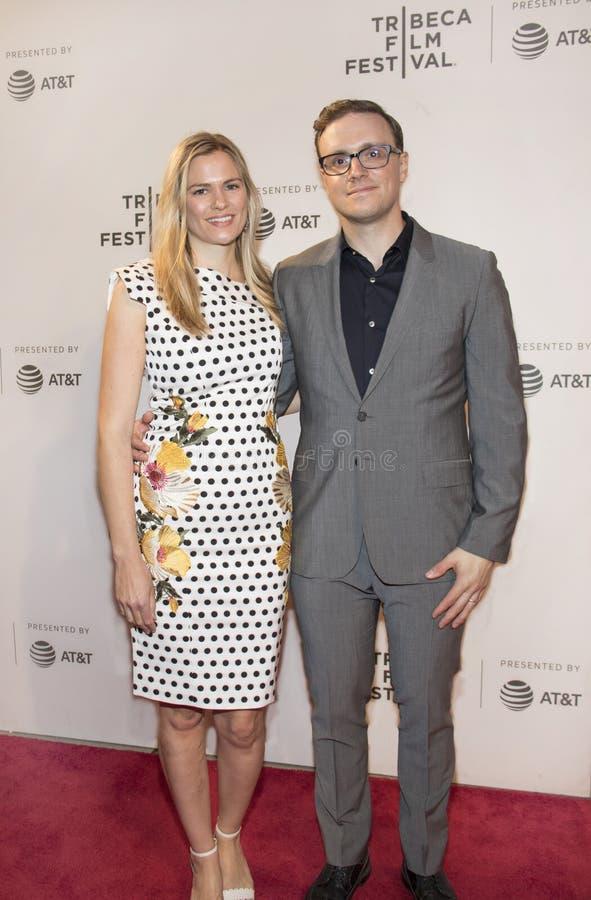 Tina Grapenthin y Matthew Hamachek en el festival de cine 2018 de Tribeca imagenes de archivo