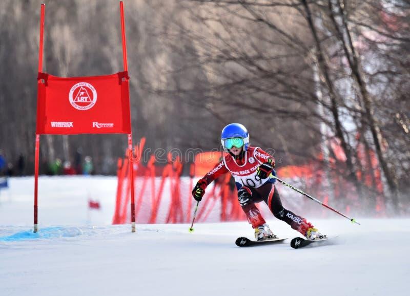 Tina Sutton Memorial - slalom Ski Competition immagini stock