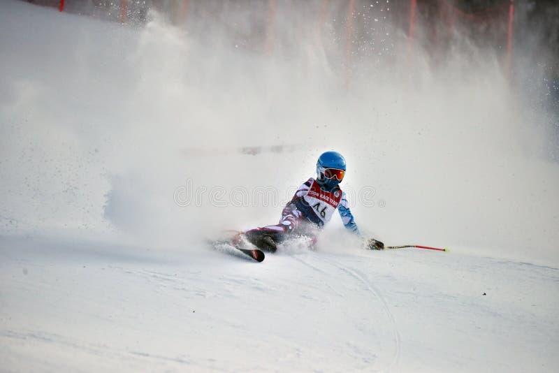 Tina Sutton Memorial - slalom Ski Competition immagine stock