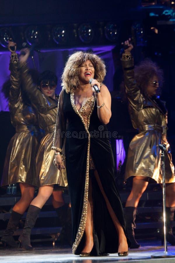 Tina Turner Live in Montreal royalty-vrije stock afbeelding