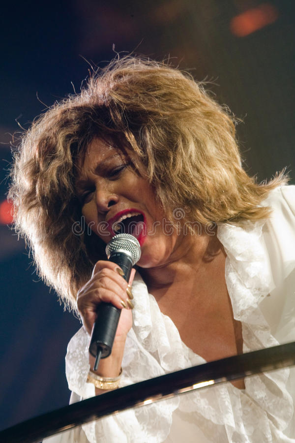 Tina Turner sous tension à Montréal images libres de droits