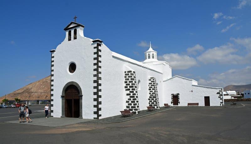 Church of Ermita de los Dolores Tinajo Lanzarote Spain. royalty free stock photo