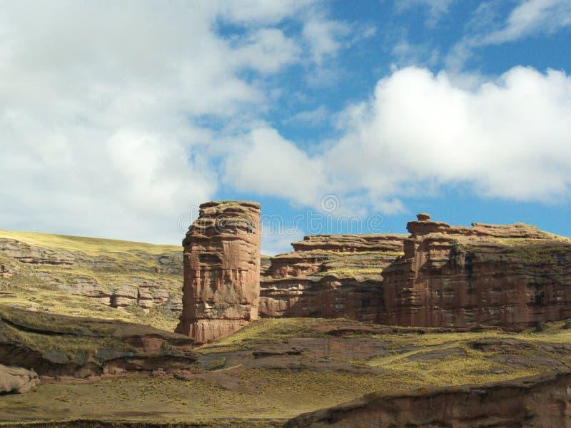 Tinanjani kanjon i Perú royaltyfria foton