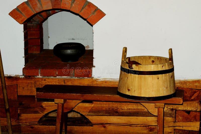 Tinas de madera fotos de archivo