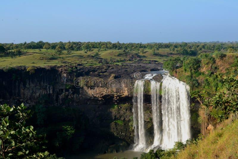 Tincha vattenfall nära Indore fotografering för bildbyråer