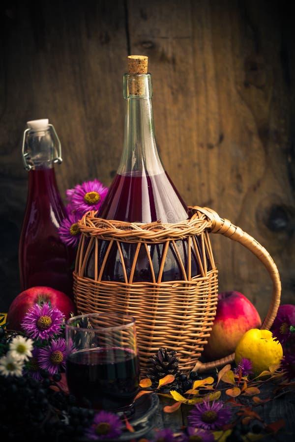 Tincture κουζινών φθινοπώρου chokeberry τρύγος τοπίου στοκ εικόνες