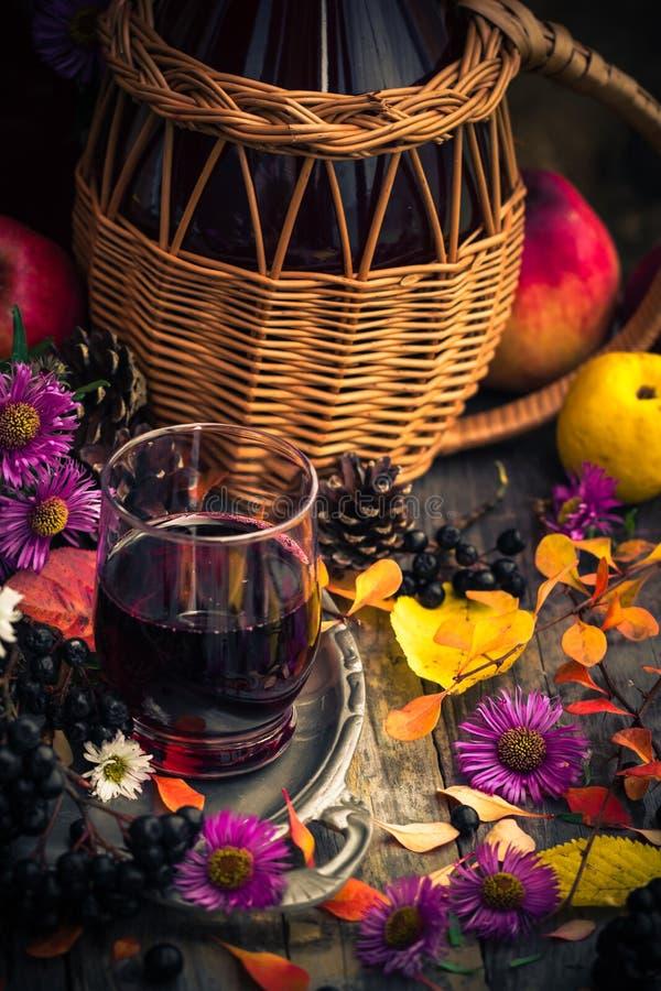 Tincture κουζινών φθινοπώρου chokeberry τρύγος τοπίου στοκ φωτογραφίες