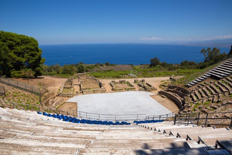 TINDARI希腊人剧院 库存照片