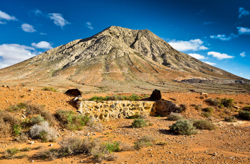 Tindaya góra, Fuerteventura, zdjęcie royalty free
